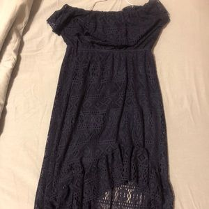 Dark blue Rue 21 strapless blue dress